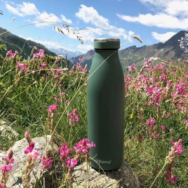 "Термобутылка Sistema ""Hydrate"" 500 мл, цвет Темно-зеленый"