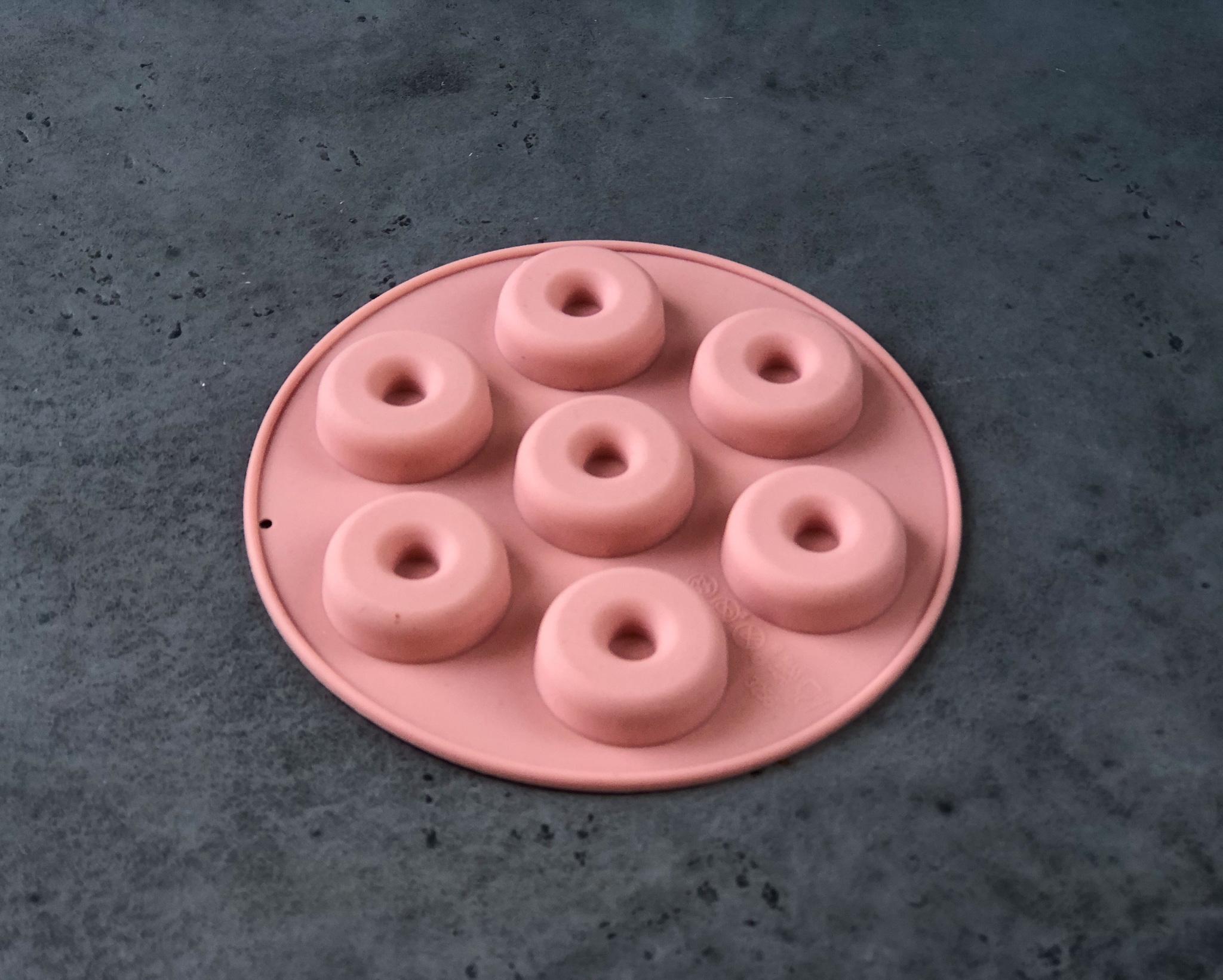 Силиконовая форма Розовая «Пончики маленькие», 7 ячеек 15,5×1,3 см