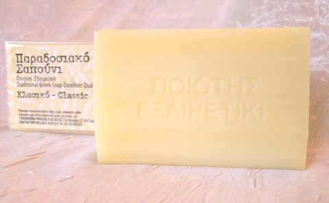 Натуральное оливковое мыло белое Bellas