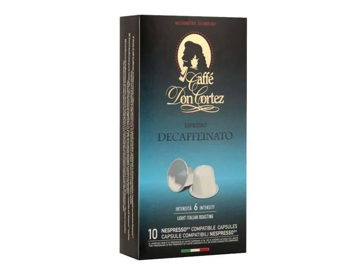 Кофе в капсулах Carraro Don Cortez Decaffeinato
