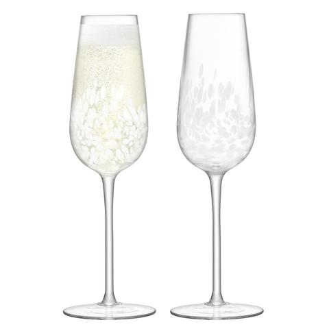 Набор из 2 бокалов-флейт для шампанского Stipple, 250 мл