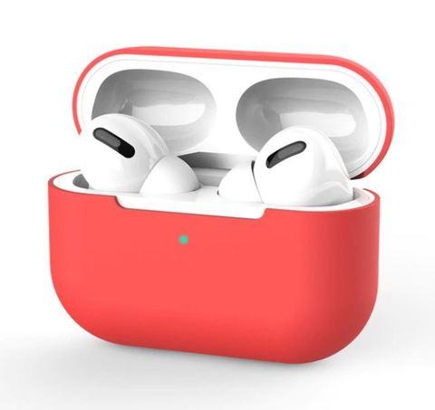 Силиконовый чехол для Airpods Pro красный