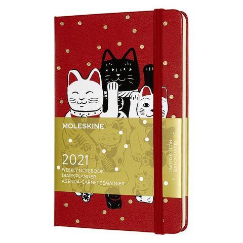 Еженедельник Moleskine LE Maneki Neko Pocket 90x140мм 144стр. красный