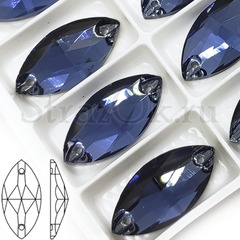 Купить пришивные стразы оптом дешево Montana Dark темно-синие Navette