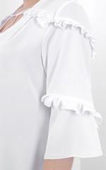 Тутсі. Елегантна сукня великих розмірів. Білий.