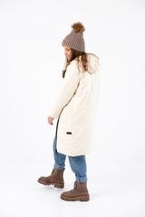 Пальто для девочки Классик ваниль