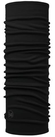 Шерстяной шарф-труба Buff Solid Black фото 1