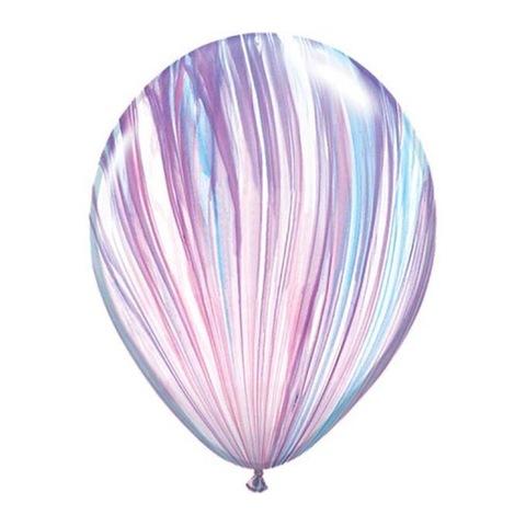 Шар волнистый супер агат fashion белый розовый голубой