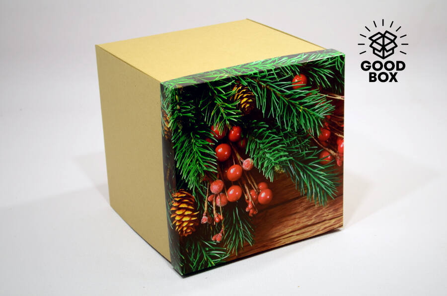 Большая новогодняя квадратная коробка купить