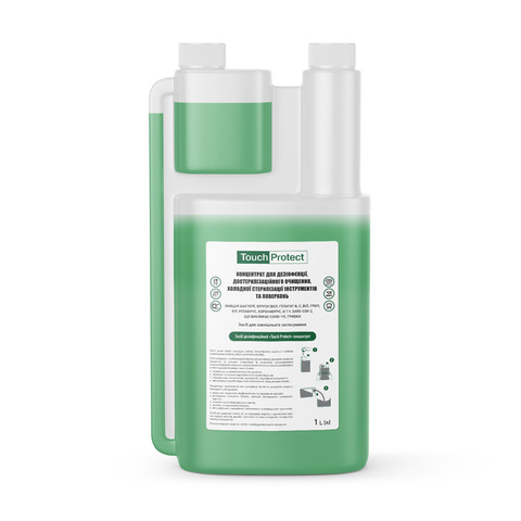Концентрат для дезинфекции, достерилизационной очистки, холодной стерилизации инструментов и поверхностей Touch Protect 1 l (1)