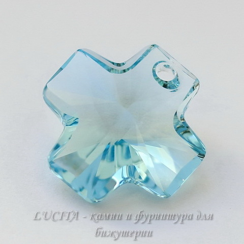 6866 Подвеска Сваровски Крестик Aquamarine (20 мм) ()