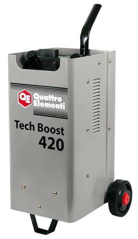 Пуско-зарядное устройство QUATTRO ELEMENTI Tech Boost 420 ( 12 / 24 Вольт, заряд до 75А, пуск до 390 А, 23кг)