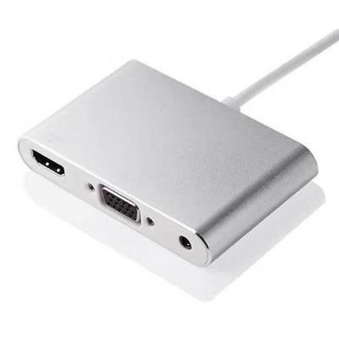 Адаптер Хаб Ardax Hub  Lightning - HDMI + VGA white Конвертер iphone в Hdmi