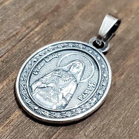 Нательная именная икона святая Злата с серебрением кулон медальон с молитвой