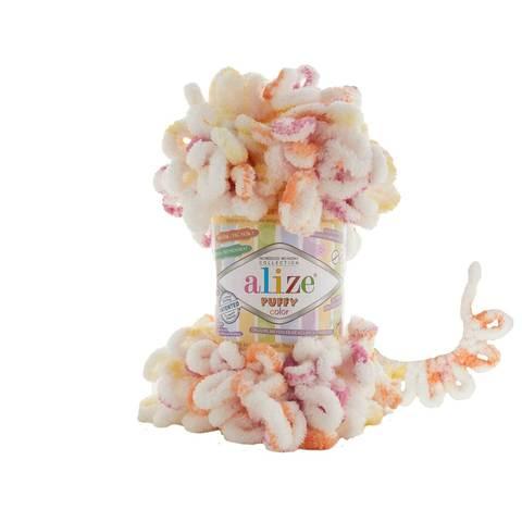 Купить Пряжа Alize Puffy Color Код цвета 6244 | Интернет-магазин пряжи «Пряха»