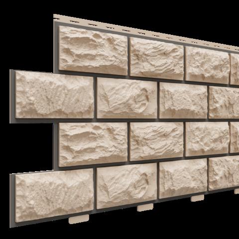Фасадные панели (Цокольный Сайдинг) Доломит Альпийский Прокрашенный Орех