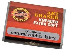 Ластик-клячка EXTRA SOFT 6423, серый, картонн.манжетка
