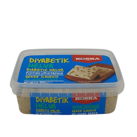 Халва кунжутная с фисташками без сахара KOSKA, 350 гр