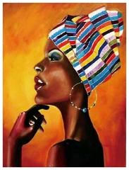 Aлмазная мозаика Портрет африканки