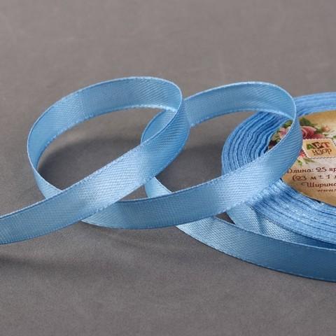 Лента атласная голубая 6мм