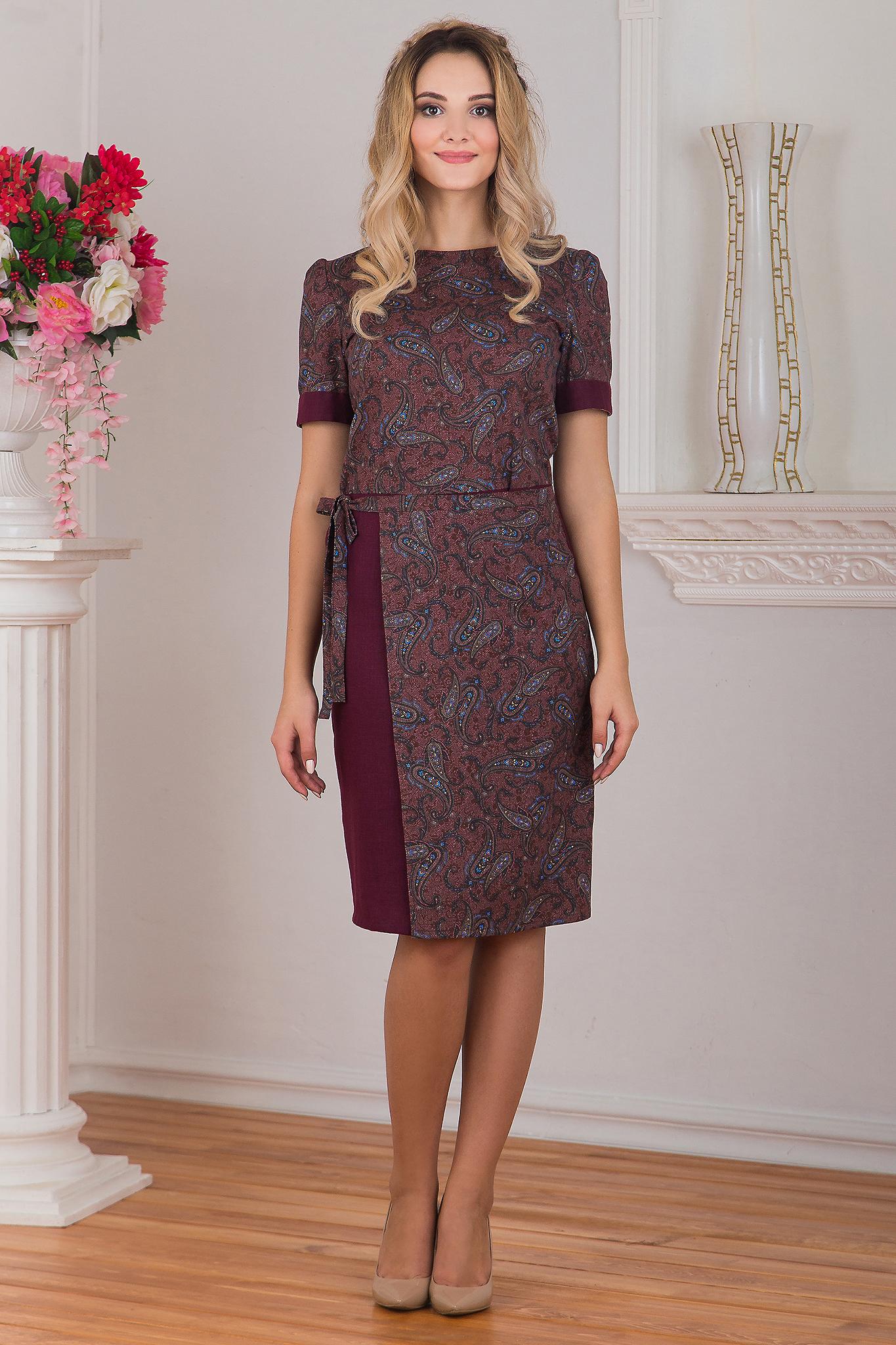 Платье с запахом Спелая вишня от Иванки
