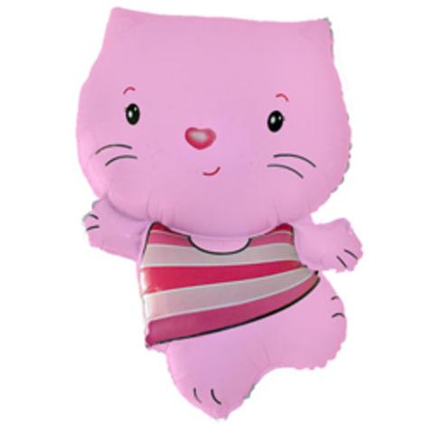 Шар-фигура Котенок розовый, 89 см