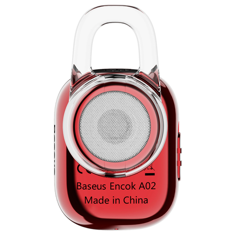 Наушники Baseus Encok Mini Wireless Earphone A02 Red