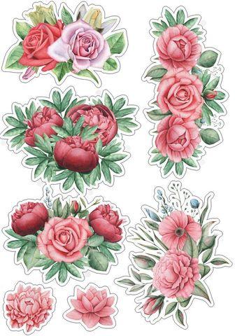 Печать на сахарной бумаге, Набор цветы 1