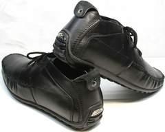Купить кожаные мужские мокасины Ikoc 112-1Black