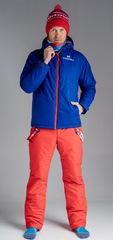 Утеплённый прогулочный лыжный костюм Nordski Motion Patriot Blue-Red мужской