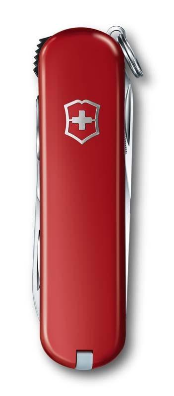 Складной нож-брелок Victorinox Nail Clip 580 с маникюрными кусачками (0.6463) цвет красный, 65 мм. в сложенном виде