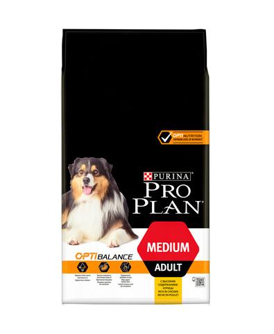 Pro Plan сухой корм для взрослых собак средних пород (курица) 1,5 кг