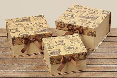 Набор из 3-х декоративных коробок