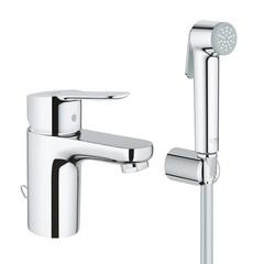 Смеситель для раковины с гигиеническим душем Grohe BauEdge 23757000 фото