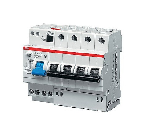 Автоматический выключатель дифференциального тока (АВДТ) DS204 A-C16/0,03 тип A ABB