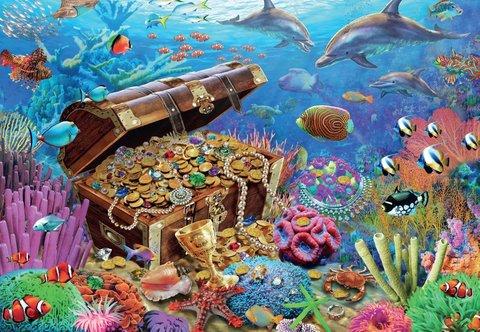 Картина раскраска по номерам 40x50 Морские сокровища