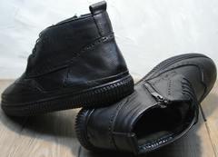 Мужские зимние ботинки на натуральном меху Rifellini Rovigo C8208 Black