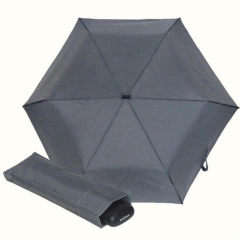 Карманный серый мини зонтик плоской формы, особо прочные материалы, фибергласс