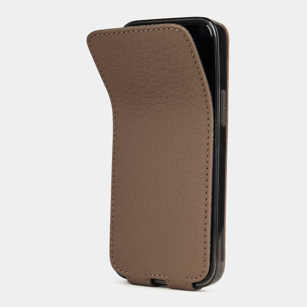 Чехол для iPhone 12 Pro Max из натуральной кожи теленка, цвета кофе