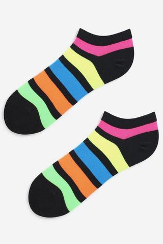 Носки женские с цветными полосками MARILYN FOOTIES RAINBOW 2