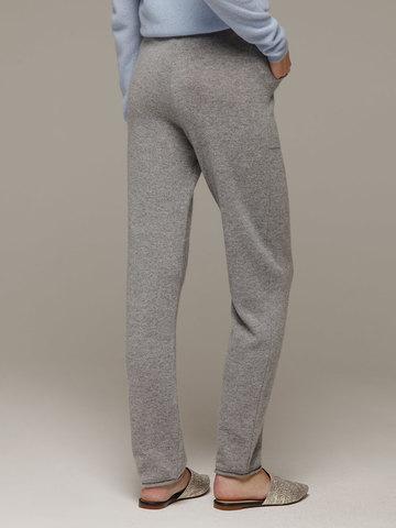 Женские серые брюки с карманами из 100% кашемира - фото 4
