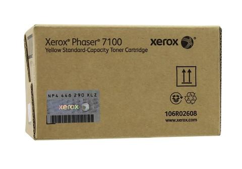 Оригинальный картридж Xerox 106R02608 желтый