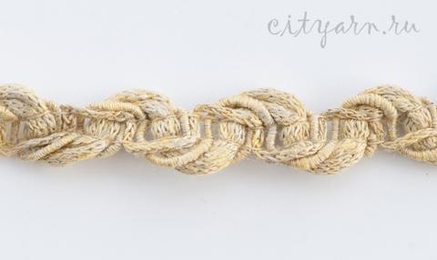 Тесьма льняная плетёная, цвет золотой пшеницы,  B11207.00/5, ширина 1.5 см, цена указана за 50 см