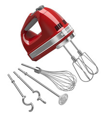 Ручной миксер KitchenAid красный 5KHM9212EER