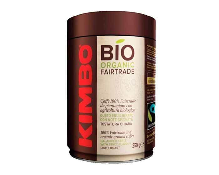 Кофе молотый Kimbo Bio Organic Fairtrade, 250 г в жестяной банке