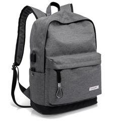 Рюкзак для города с USB KAKA 2199 серый