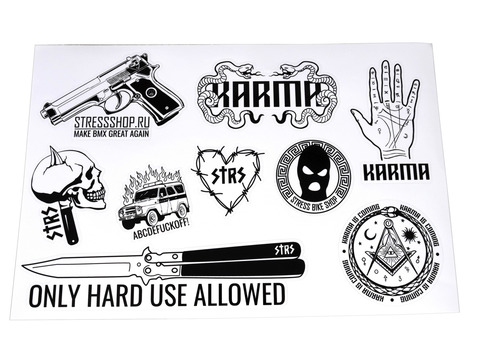 STRESSShop x KARMA x STRESS sticker pack