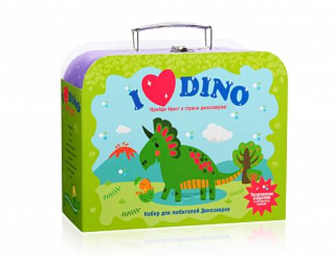 Набор для творчества ПОДАРОК В ЧЕМОДАНЕ Я люблю динозавров, 4+