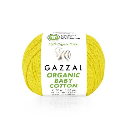 Пряжа Gazzal Organic Baby Cotton 420 мимоза