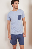 Мужской комплект с синими шортами Verdiani